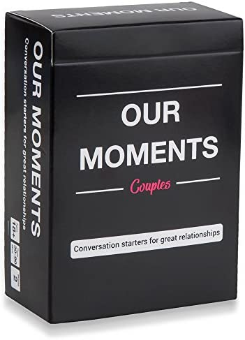 OUR MOMENTS Couples: 100 Thought Provoking Conversation Starters for Great Relationships – Fun Conversation Cards Game for Couples