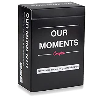 OUR MOMENTS Couples: 100 Thought Provoking Conversation Starters for Great Relationships - Fun Conversation Cards Game for Couples
