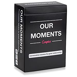 OUR MOMENTS Couples: 100 Thought Provoking Conversation Starters for Great Relationships – Fun Conversation Cards Game…