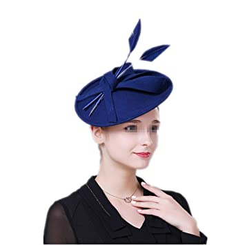 Fenghezhanouzhou Ladies Bridal Retro Fascinators Hats 20s 50s Hat Pillbox  Hat Cocktail Tea Party Headwear with 92f4503e1f5