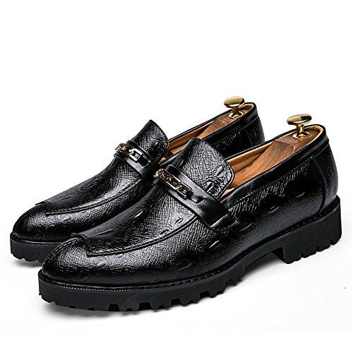 da Classic Casual Youth Formali Metallo Scarpe Accessori Nero Cricket Scarpe Traspiranti in Men's Business Fashion Oxford OwqUHU