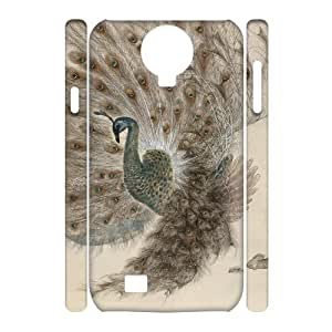 Peacock Custom 3D Case for SamSung Galaxy S4 I9500,personalized Peacock Phone Case
