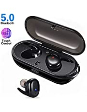 Wireless Earphones Headphones, GEEKERA Bluetooth 5.0 Earbuds In-Ear with 18Hrs Playing Time Stereo Sound IPX5 Waterproof for Sport