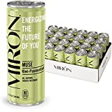Mirón Kiwi Passionfruit All Natural Sparkling Energy Beverage 8.4 Fl.Oz. Cans (Pack of 24)