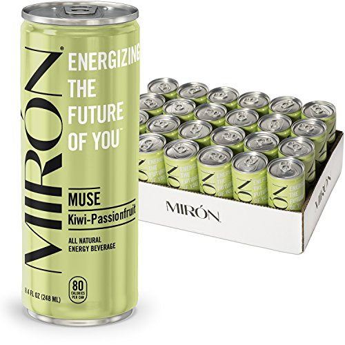 Mirón Kiwi Passionfruit All Natural Sparkling Energy Beverage 24-Pack Only $13.99