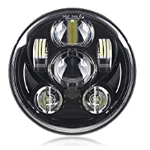 """Black 5-3/4"""" Motorcycle Projector Daymaker LED Headlight for Harley Dyna Wide Glide FXDWG Headlamp Driving Light"""