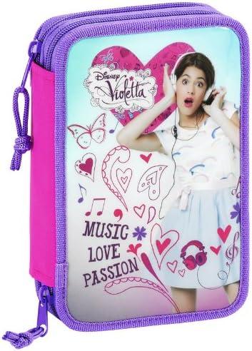 Violetta - Plumier Doble con 34 Piezas, 13 x 20 x 5 cm (SAFTA 411347054): Amazon.es: Equipaje