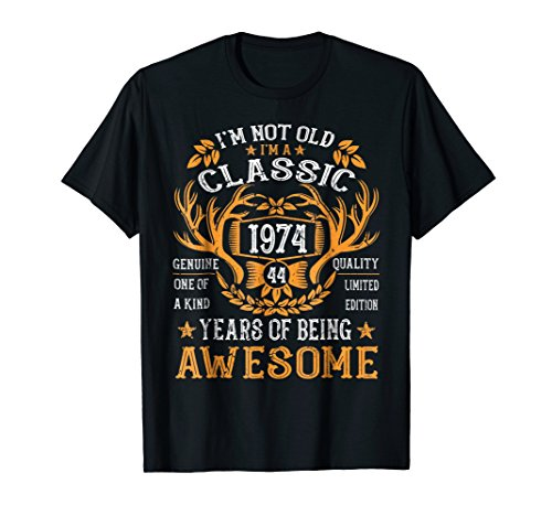 Vintage Classic 1974 Shirt 44th Birthday Gifts 44 Years Old