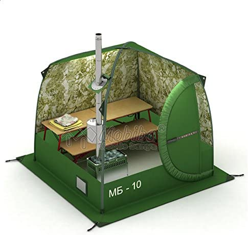 Mobiba Portable Mobile Sauna Tent MB-10A 3-4 pers. Wood Heater-Stove Mediana-5