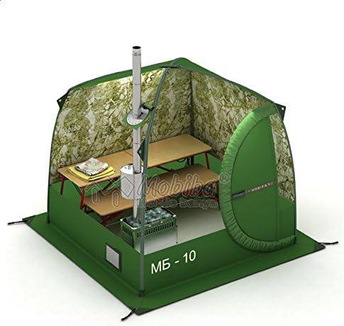 Mobiba Portable Mobile Sauna Tent MB-10A 3-4 pers. Wood Heater-Stove Mediana-5