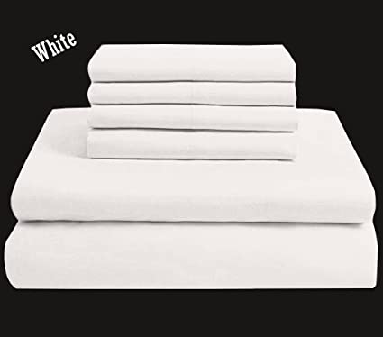 6 Piece Bed Sheets Set Hotel Quality Egyptian Cotton Luxurious 600 TC, 1