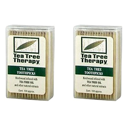 Australian Chewing Sticks (Tea Tree Therapy - Tea Tree & Menthol Toothpicks (100 count) (2-Pack))