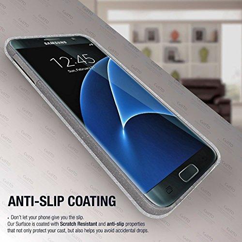 Caja de la galaxia Plus S8, Cellto ultra delgado [antideslizante] flexible de TPU Protección gota la cubierta del gel de cuerpo para Samsung Galaxy S8 Plus - claro transparente Claro con escarcha