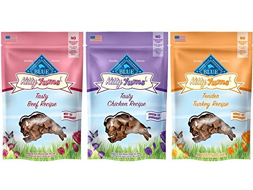 3 Pack Blue Buffalo Kitty Yums Cat Treat Variety Pack (Salmon, Turkey, and Chicken) by Blue Buffalo