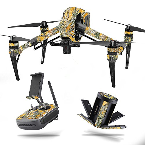 MightySkins Skin for DJI Inspire 2 – Mc2 Blaze | Protective, Durable, and Unique Vinyl Decal wrap Cover | Easy to Apply, Remove, and Change Styles | Made in The USA