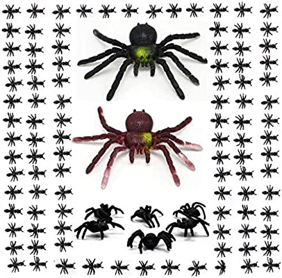 222 Pcs Plastic Spiders Artificial Ants Fake Spider Ant Realistic Bugs Scary Insects Creepy Rubber Prank Gag Gifts Trick Joke Toys Halloween Decorations And Spiders Ants Party Favors Halloween Props Amazon Sg Home