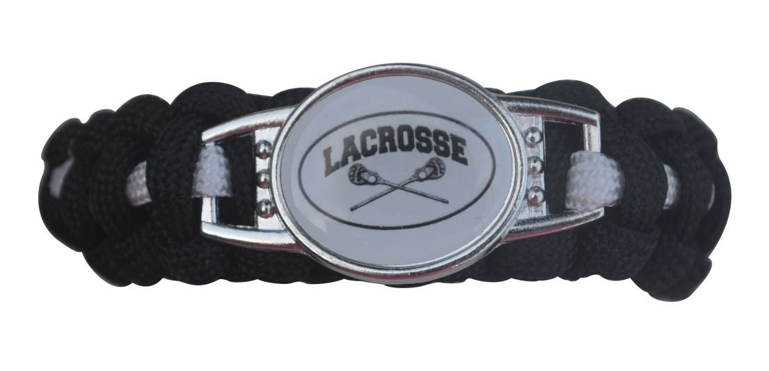 Infinity Collection Lacrosse Paracord Bracelet, Boy and Girls Lacrosse Jewelry For Lacrosse Players