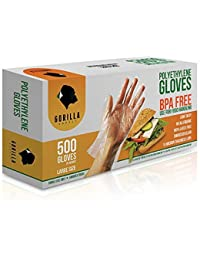 Buy 500 BPA Free Disposable Poly PE Gloves Large, Food Grade online