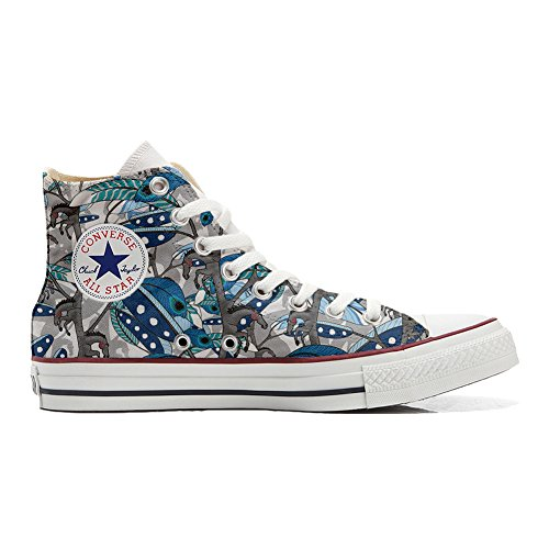 Converse All Star zapatos personalizados (Producto Handmade) Horse Feathers