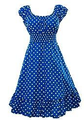 d55431c1ae Sidecca Retro 1950s Polka Dot Smock Swing Plus Size Dress ...