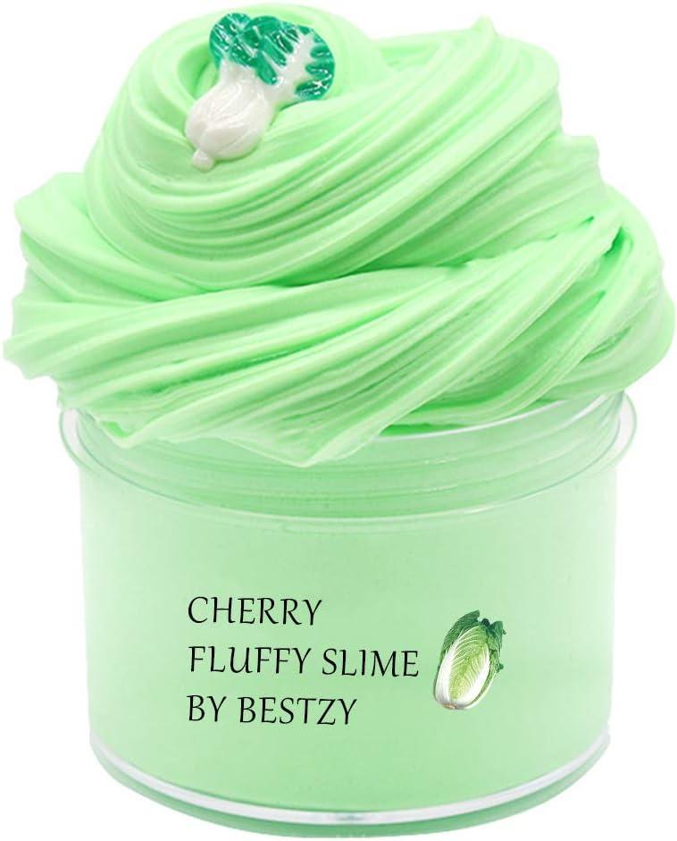 BESTZY Fluffy Repollo Cloud Slime 2019 Lo Nuevo 200ML Fairy Putty Stress Relief Toy Perfumado Sludge Toy Niños Adultos