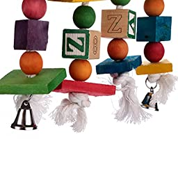 Aigou Knots Block Chewing Toy with Bells Hanging Toys 17.5\
