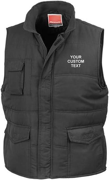 Custom Text on Bodywarmer Custom Embroidered Bodywarmers Star and Stripes Personalised Ladies Micro Fleece Bodywarmer