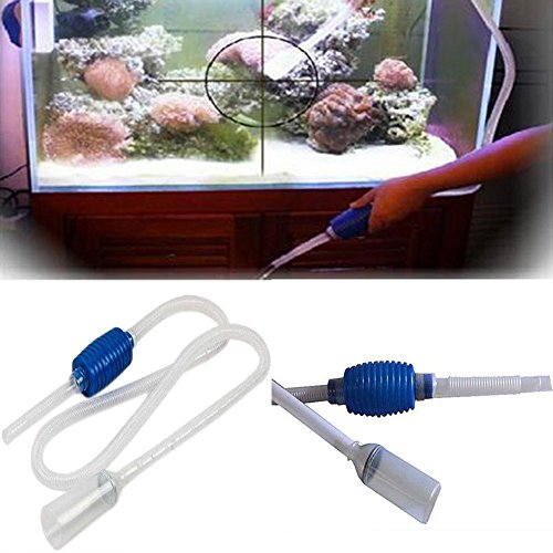 New aquarium siphon gravel cleaner siphon vacuum pump fish for Fish tank gravel cleaner
