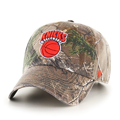 NBA New York Knicks '47 Big Buck Clean Up Camo Adjustable Hat, One Size Fits Most, Realtree Camouflage