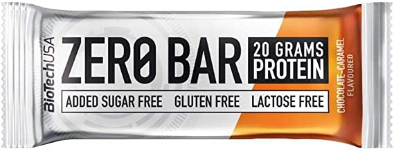 Biotech Barras De Proteínas Chocolate-Caramelo, pack de 20 x 50 g