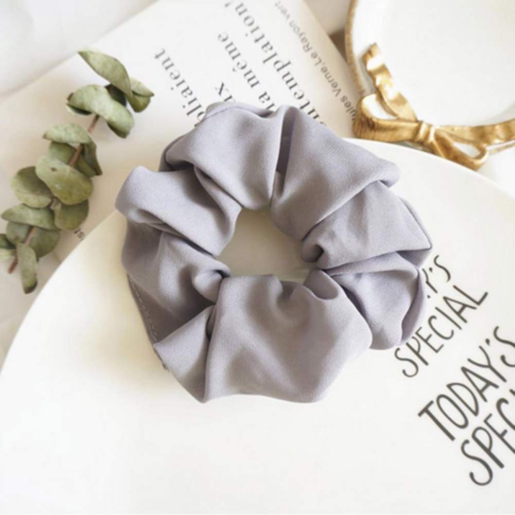 Scrunchie Uni Grey Color Selectable Hair Rubber Hairband Plait Rubber Bracelet School Bag Training Gift Hair Jewelry Retro Vintage Bow