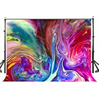 Lyly County Watercolor Backdrop for Photography 7x5ft Polyester Colorful Smoke Stage Studio Photo Background Decoration (Upgrade material) LY030