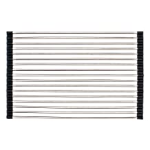 """Kindred FRM100 17"""" x 14"""" Universal Prep or Drying Roller Mat for Kitchen Sink, Stainless Steel"""