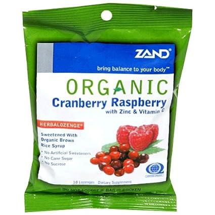 Zand - Herbalozenge frambuesa arándanos orgánicos con Zinc y ...
