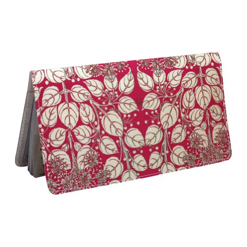 Checkbook Cover Paisley - Pink Floral Checkbook Cover