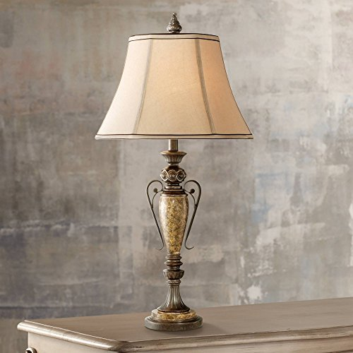 - Kathy Ireland London Town Faux Agate Marble Table Lamp
