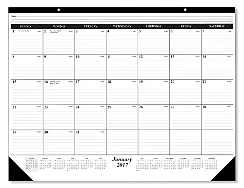 The  1 Best Selling 2017 Deskpad Calendar 12 Months  January   December 2017  Holidays Julian Days  Ruled Paper Great Schedule Organizer By Creative Design