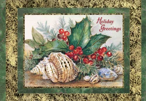 Holly Farm (Holly and Shells - Red Farm Studios Box of 18 Christmas Cards)