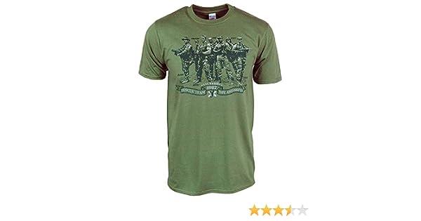 Amazon.com: Mens Retro Rescue Team Not Assassins T Shirt Military Green Medium - Chest 34-36in Military Green: Clothing