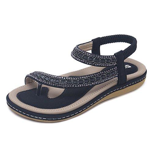 fondo YMFIE di scarpe di boemia piatti vacanza morbido estate della antiscivolo mare al della modo comode Sandali C Boemia spiaggia casuale da rHwzZqr5