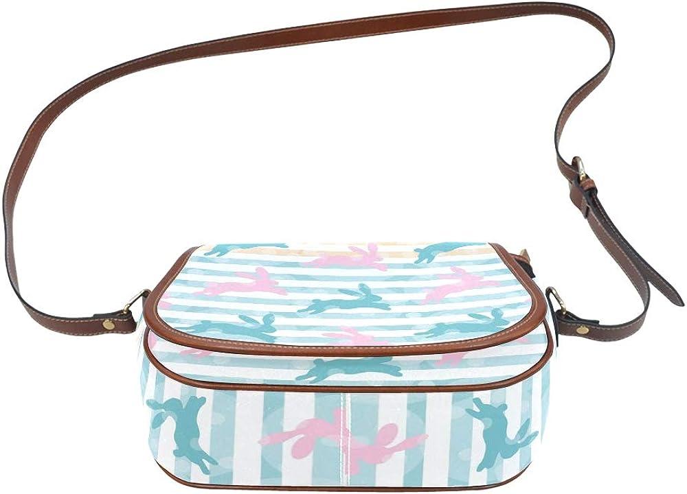 White Funny Cute Animal Pet Rabbit Saddle Bag Women Flap With Magnetic Snap Printed Shoulder Bag For Teens Girl Shoulder Bag