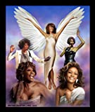 'Whitney' Wishum Gregory, framed African-American music poster art print, 26' x 22'