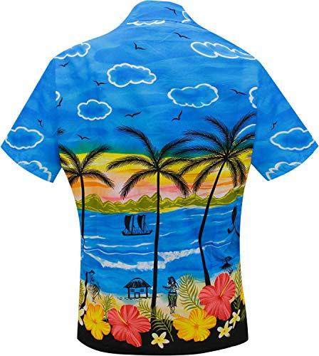 afd14cff297 Manga Blusas Hawaiano Azul Camisa Para Traje x79 Playa Desgaste De Azul Del  Baño La Collar .