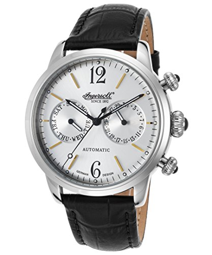 Ingersoll Men's IN8009SL Outlaw Fine Automatic Timepiece Silver Case Watch