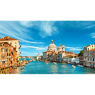 1000PCS Jigsaw Puzzles for Kids Adults Venice Water City Italy Landscape Educational Intellectual Game Gift Set: Toys & Games