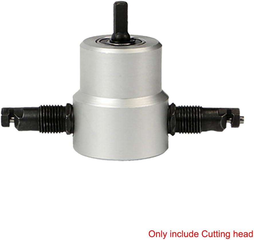 Cortador de hoja de metal de doble cabeza para herramienta de taller de corte de curva recta y c/írculo