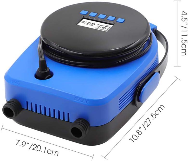 MaquiGra Bomba de Aire Electrica Sup de Alta Presi/ón 20Psi para Coches con 7 Adaptadores de Boquilla Inflador y Deflactor para Tablero de Paletas//Paletas Inflables//Botes Inflables