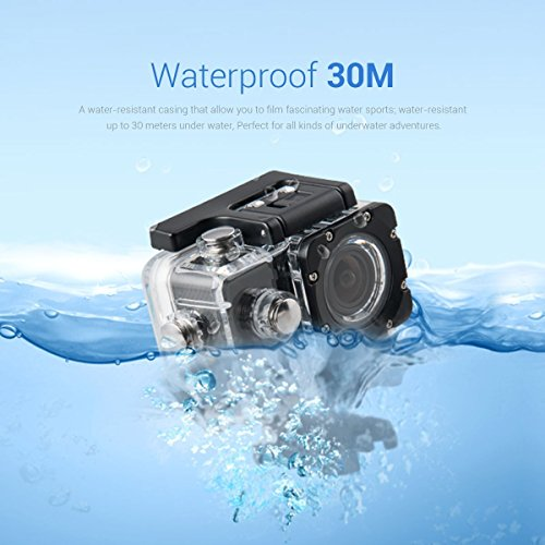 "PINGKO F60 Action Camera 16MP FHD 1080P 4K Wi-Fi Waterproof Action Cam 2.0"" LCD Screen, 170°Wide-Angle Lens DV Camcorder, 2 Rechargeable Batteries,Include Full Accessories Kits"