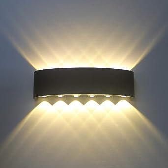 Applique Murale Interieur Noire LED 12W Lampe Murale Moderne