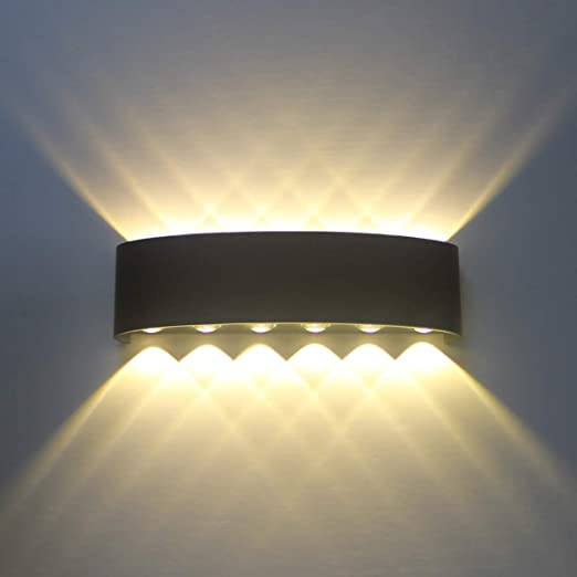 Wandleuchte Aluminium LED Modern Schlicht schwarz